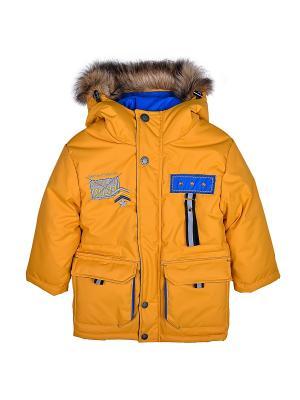 Куртка WOW. Цвет: горчичный