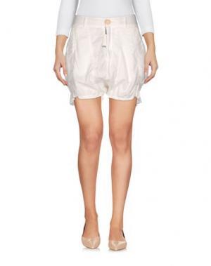Повседневные шорты HIGH. Цвет: белый