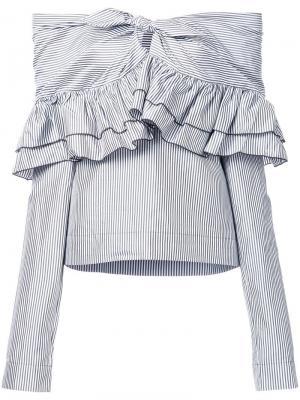 Блузка Domino Stripe Isa Arfen. Цвет: белый