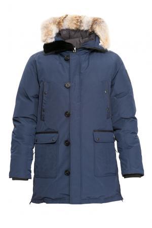 Парка-пуховик с мехом 155982 Arctic Bay. Цвет: синий