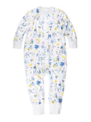 Пижама-комбинезон ДМ Bossa Nova. Цвет: белый