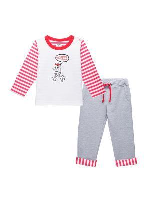 Комплект одежды для малыша NinoMio. Цвет: красный, серый меланж