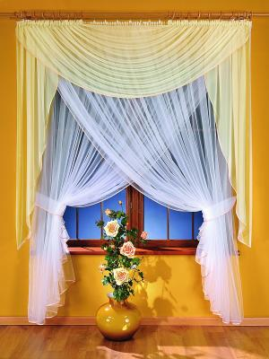 Комплект штор Wisan. Цвет: белый, светло-желтый