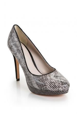 Туфли из кожи питона 159936 Bourne. Цвет: серый