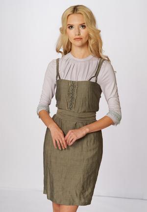 Платье Ано. Цвет: хаки