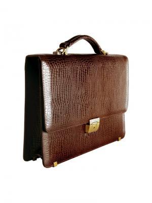 Портфель Калипсо 1 отделение Delucci. Цвет: коричневый