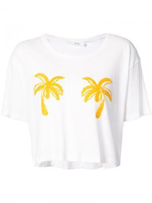 Футболка с декором в форме пальм A.L.C.. Цвет: белый