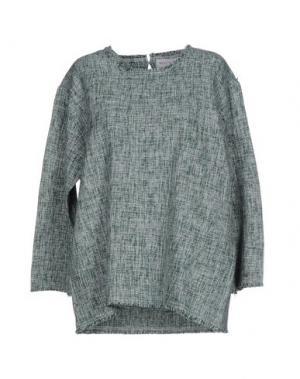 Блузка WEILI ZHENG. Цвет: зеленый