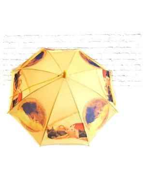 Зонт NeKi. Цвет: желтый