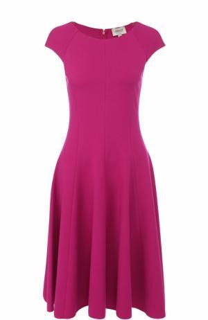 Приталенное платье-миди Armani Collezioni. Цвет: фуксия