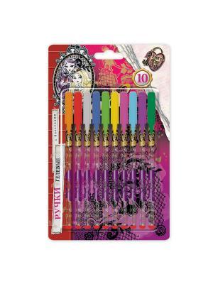 Ручки гелевые глитерные Ever After High 10 цветов блистерная упаковка Mattel. Цвет: прозрачный