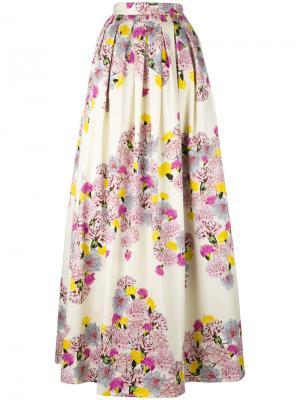 Floral print maxi skirt Daniele Carlotta. Цвет: белый