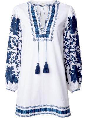 Крестьянское платье Salma Talitha. Цвет: белый