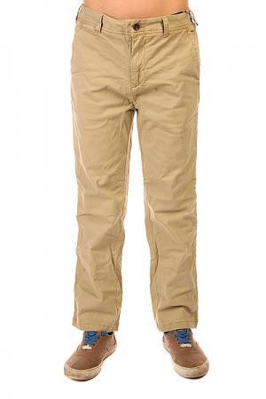 Штаны прямые детские  Sawyer Pnt Kelp Burton. Цвет: бежевый