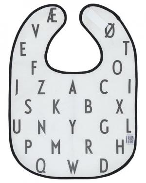 Нагрудник  Bib Design Letters. Цвет: белый