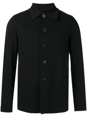 Куртка на пуговицах Harris Wharf London. Цвет: чёрный