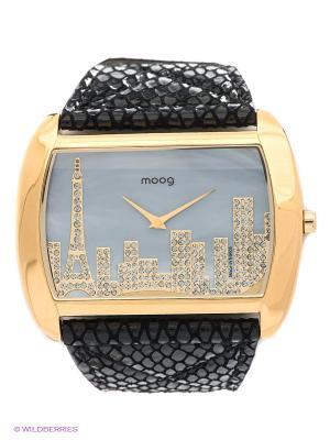 Часы MOOG. Цвет: золотистый, черный