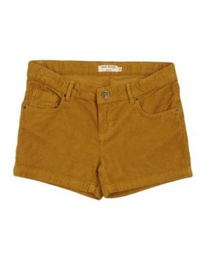 Повседневные шорты NICE THINGS MINI. Цвет: охра