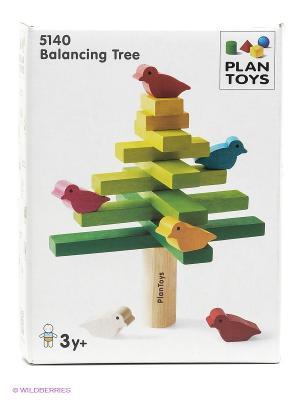 Головоломка Балансирующее дерево PLAN TOYS. Цвет: зеленый