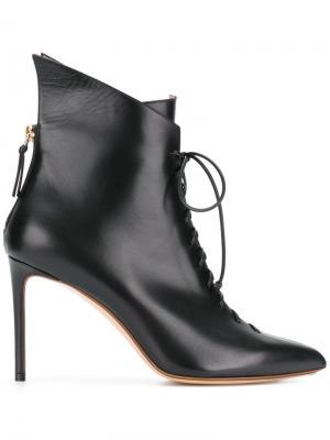 Ботильоны на шнуровке Francesco Russo. Цвет: чёрный