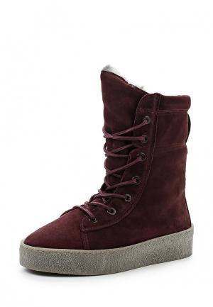 Ботинки Bronx. Цвет: бордовый