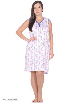 Ночная сорочка РОССИЙСКИЙ ТРИКОТАЖ. Цвет: синий, розовый