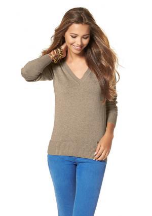 Пуловер AJC. Цвет: бордовый, дымчато-синий, серый меланжевый, черный