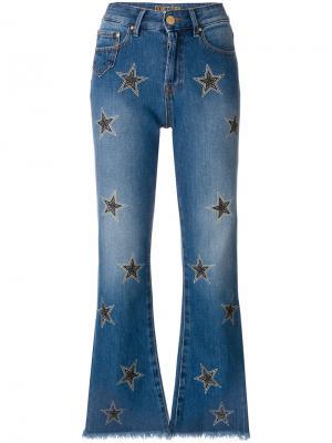 Укороченные джинсы клеш Dont Cry Don't. Цвет: синий