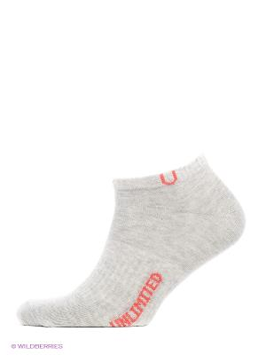 Носки спортивные 5 пар Unlimited. Цвет: серый меланж
