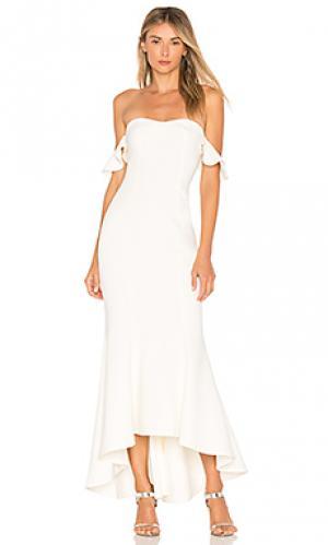 Вечернее платье с открытыми плечами sunset LIKELY. Цвет: белый
