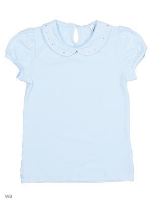 Блузка SMIL. Цвет: голубой