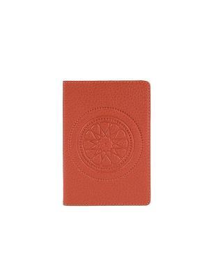 Обложка для паспорта FABULA. Цвет: рыжий