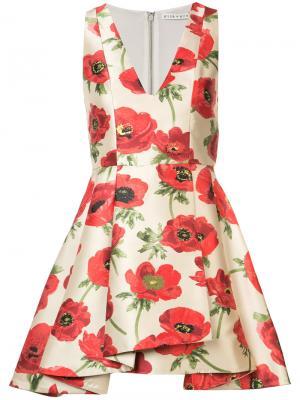 Платье Falling Poppy Alice+Olivia. Цвет: телесный