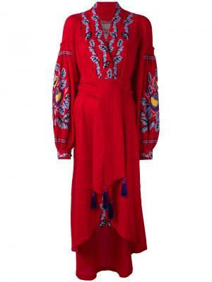 Платье Eden Tree Yuliya Magdych. Цвет: красный