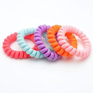 Комплект Резинок-Пружинок для волос 5 шт/уп, арт. РПВ-252 Бусики-Колечки. Цвет: разноцветный