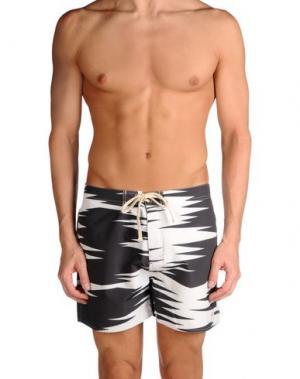 Пляжные брюки и шорты SATURDAYS SURF NYC. Цвет: белый