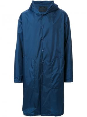 Пальто Blacksmith с капюшоном Yoshio Kubo. Цвет: синий