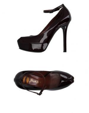 Туфли ERNESTO ESPOSITO. Цвет: красно-коричневый