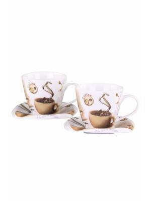 Чайный набор 4 предмета 220мл PATRICIA. Цвет: молочный