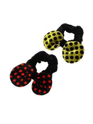 Резинка для волос (Комплект - 2 шт.) Migura. Цвет: черный,оранжевый,желтый