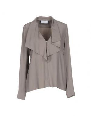 Блузка AZZARO. Цвет: светло-серый