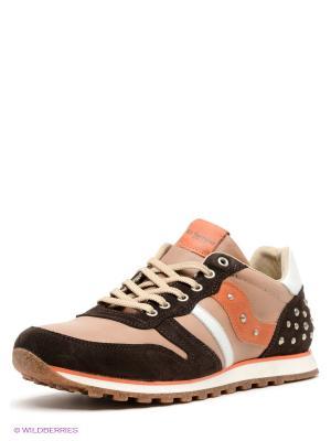 Кроссовки El Tempo. Цвет: темно-коричневый, бежевый