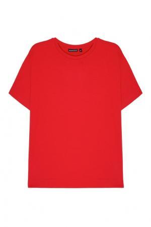 Красная хлопковая футболка BLANK.MOSCOW. Цвет: красный