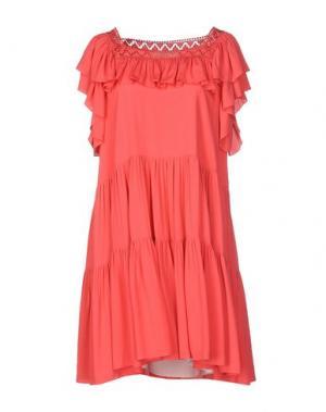 Короткое платье PHILOSOPHY DI LORENZO SERAFINI. Цвет: коралловый