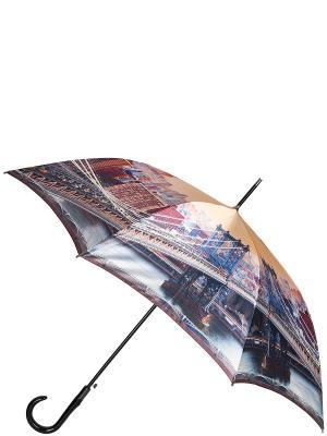 Зонт Eleganzza. Цвет: серый, бежевый, коричневый