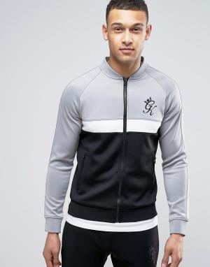 Gym King Обтягивающая спортивная куртка. Цвет: черный