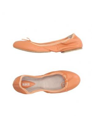 Балетки BLOCH. Цвет: оранжевый