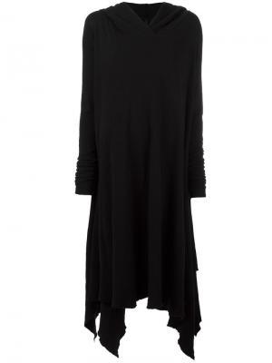 Платье с длинными рукавами и капюшоном Poème Bohémien. Цвет: чёрный