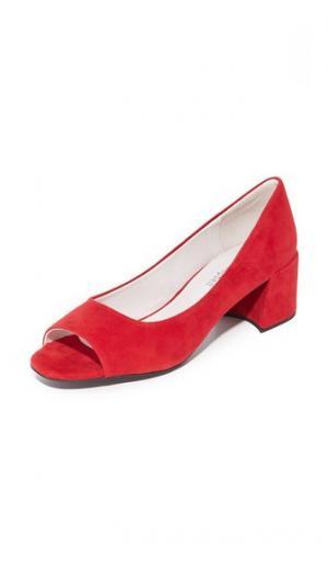 Туфли-лодочки Buffy с открытым мыском Jeffrey Campbell. Цвет: красный
