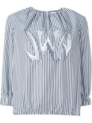 Блузка в полоску J.W.Anderson. Цвет: чёрный